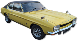 Classic Cars for hire Scotland Ford Capri MK1 2.0GT - Lanarkshire, Glasgow and Edinburgh
