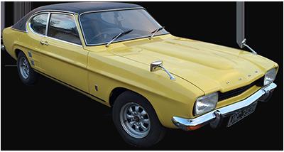Classic Cars for hire Scotland Ford Capri MK1 2.0GT - Lanarkshire, Glasgow and Edinburgh