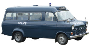 Classic Car Hire Scotland Glasgow Edinburgh Ford Transit Police Van Mini Bus Mk1 1974