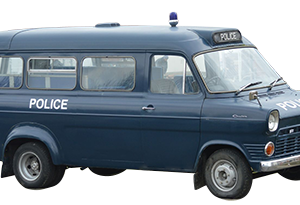 Classic Car Hire Scotland Glasgow Edinburgh Ford Transit Police Van Mini Bus Mk1 1974